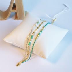 Bracelet triple chaîne doré