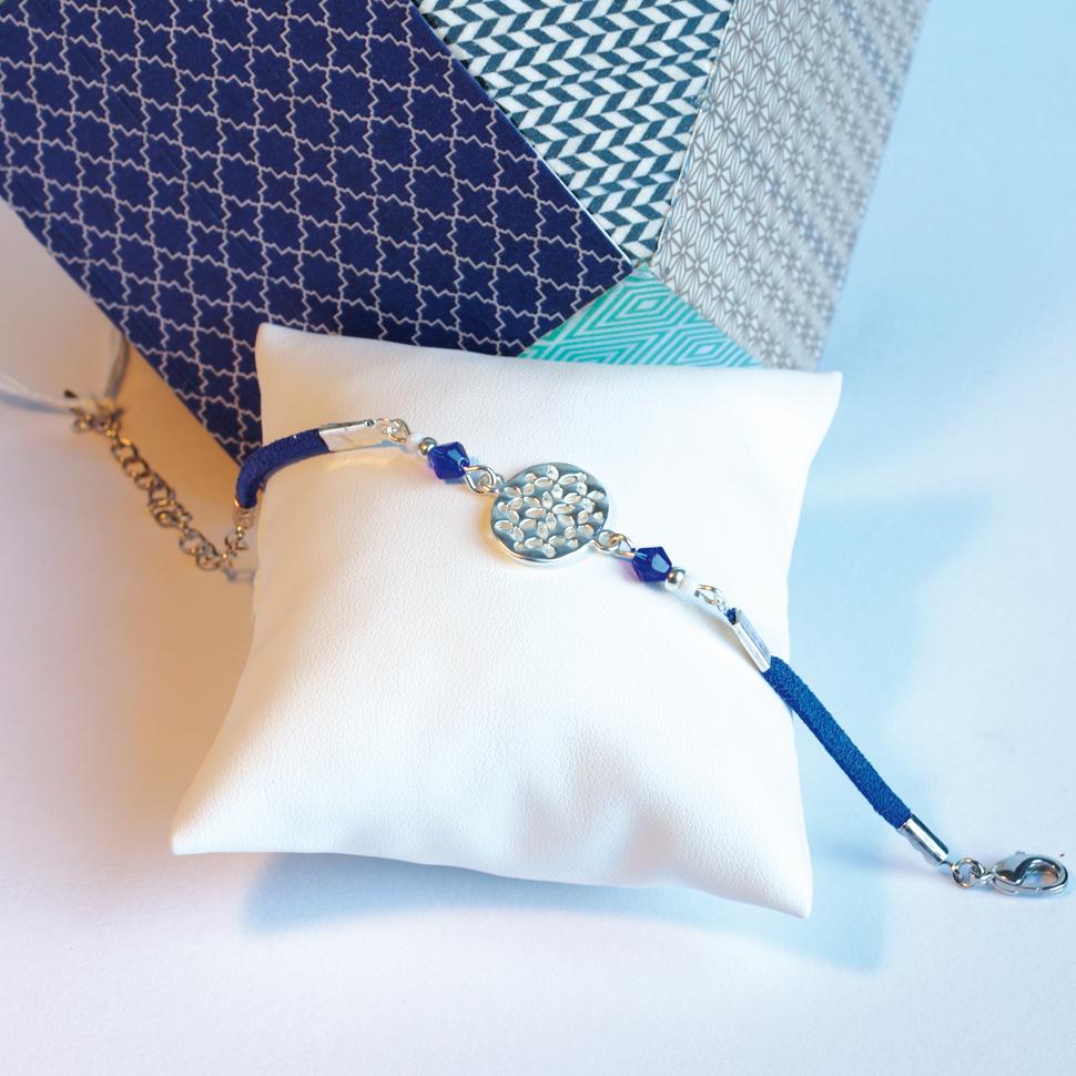 Bracelet-suedine-piece-argent-bleu